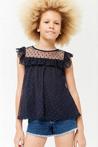 Girls Mesh Flounce Top (kids)