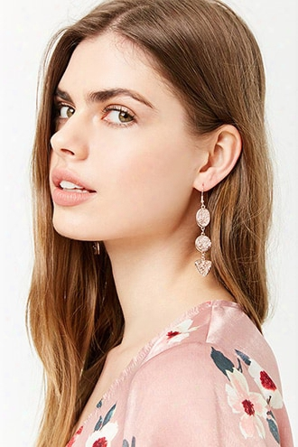 Layered-stone Drop Earrings