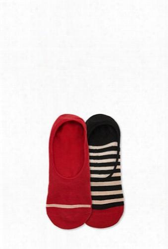 Men Richer Poorer Striped No-show Socks