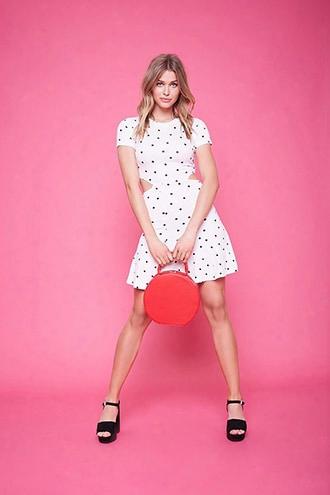 Polka Dot Cutout Dress