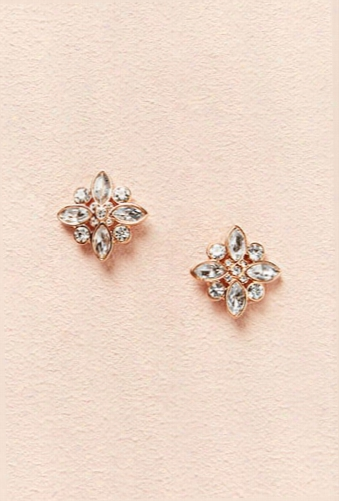 Rhinestone & Jewel Stud Earrings
