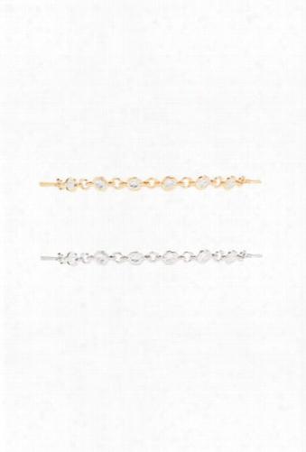 Rhinestone Charm Bracelet Set
