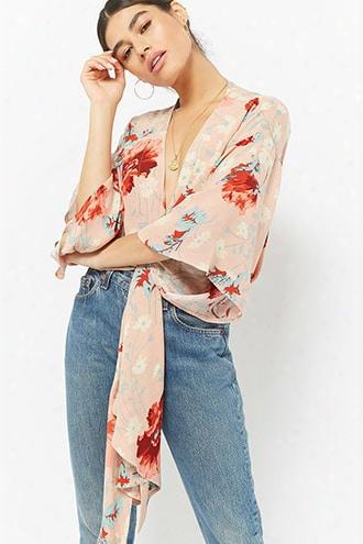 Selfie Leslie Floral Self-tie Top