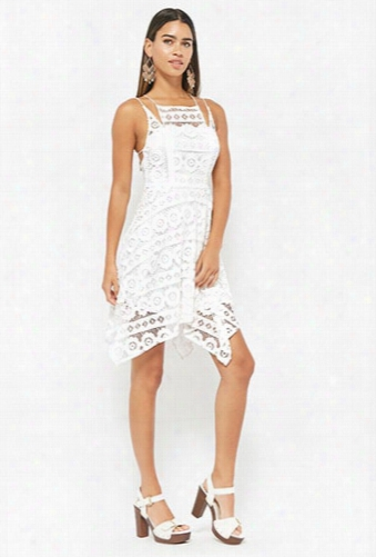 Selfie Leslie Strappy Crochet Lace Dress