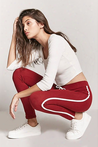 Side Stripe Drawstring Leggings