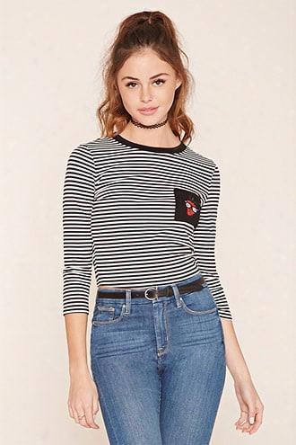 Striped Patc Knit Top