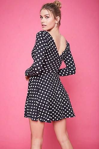 Surplice Polka Dot Dress