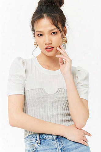 Sweater-knit Tube Top