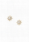 CZ Starburst Stud Earrings