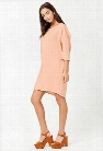 French Terry High-Low Dress