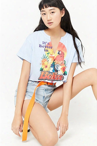 Better In Belize Cropped Tee