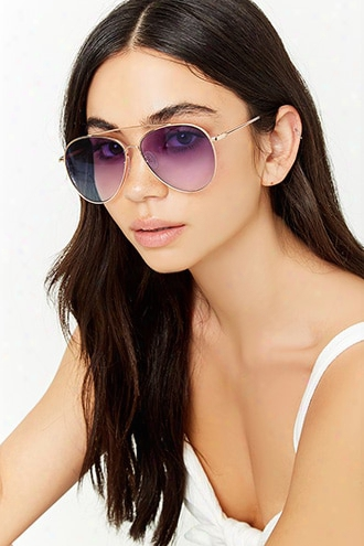 Brow-bar Aviator Sunglasses