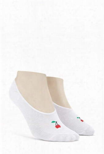 Cherry No-show Socks
