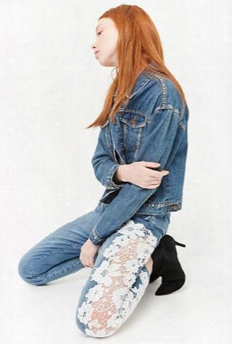 Crochet Mid-rise Jeans