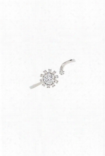 Cubic Zirconia Split Ring