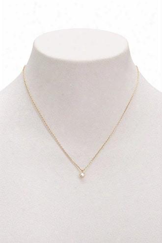 Cz Stone Pendant Necklace