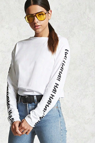 Haha Graphic Pullover