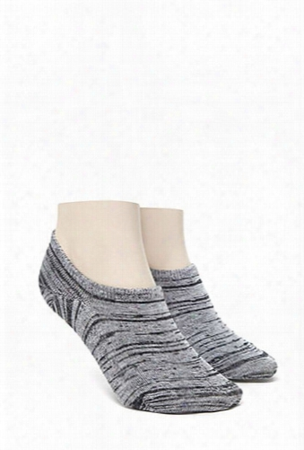 Men Marled No Show Socks