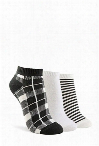 Patterned Ankle Sock - 3 Pack