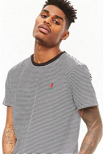 Rose Graphic Striped Tee