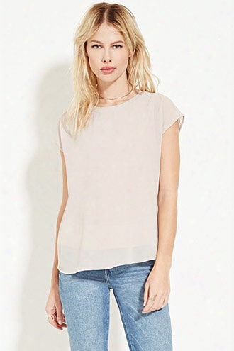 Semi-sheer Crepe Top