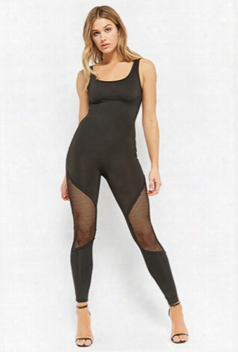 Sheeny Mesh Panel Bodysuit
