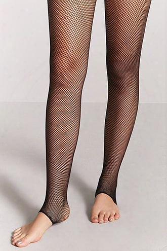 Sheer Footless Fishnet Tights