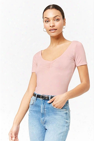 Stretch-knit Ruched Tee