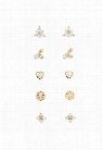Assorted CZ Stud Earring Set