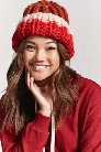 Chunky Ribbed Knit Colorblock Beanie