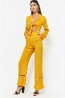 Pipe-Trim Satin Jumpsuit