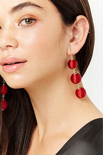 Tiered Fabric Bauble Earrings