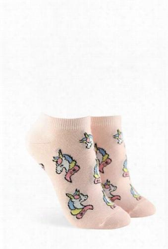 Unicorn Print Ankle Socks