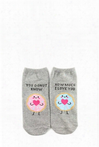 You Donut Know How Much I Love You Graphic Ankle Socks