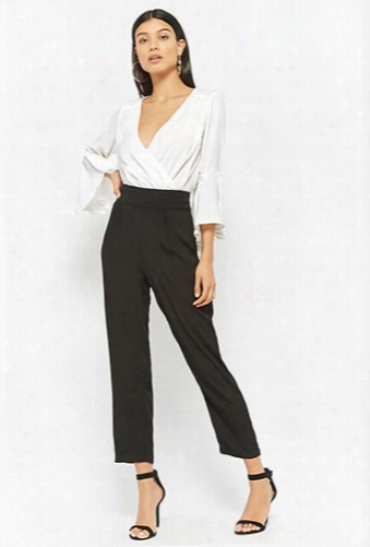Colorblock Surplice Jumpsuit
