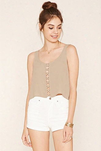 Crisscross-cutout Crop Top