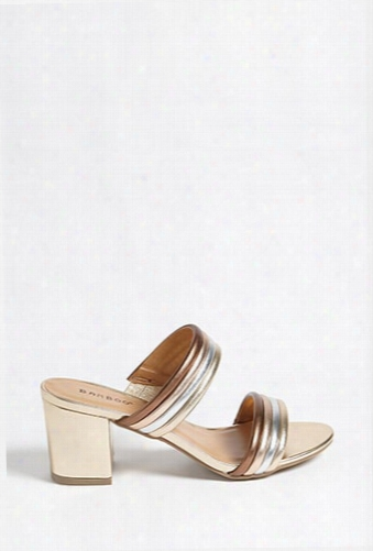 Double-strap Striped Mules