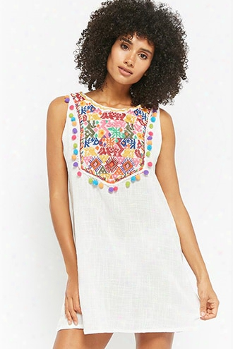 Embroidered Pom Pom Tunic