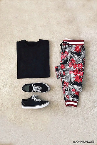 Floral Print Track Pants
