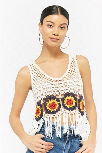 Fringe Crochet Crop Top