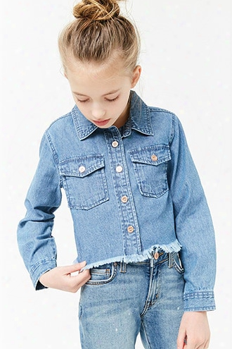 Girls Frayed Denim Shirt (kids)