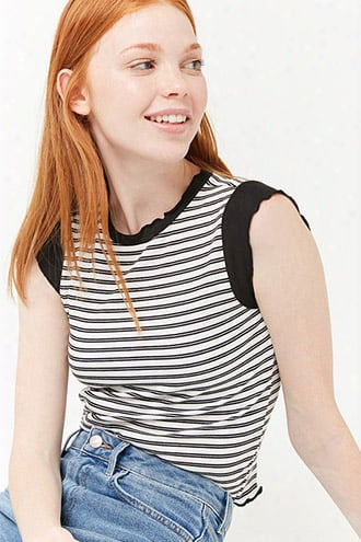 Lettuce Edge Stripe Top
