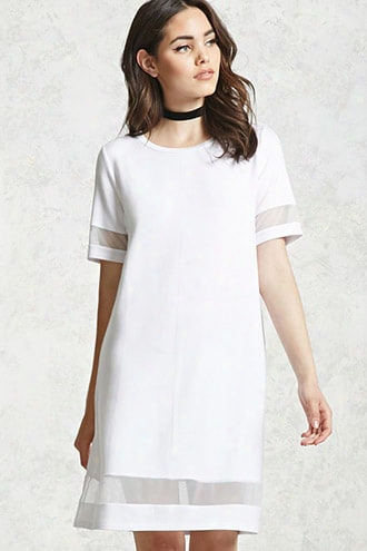 Mesh-cutout Dress