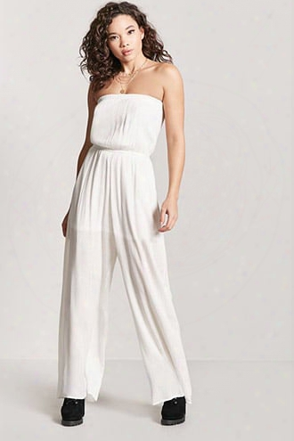 Metallic Strapless Jumpsuit