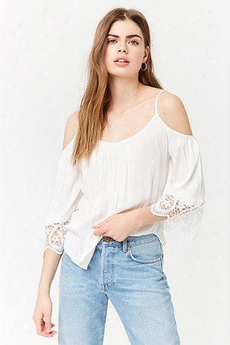 Open-shoulder Blouse