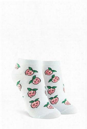 Peach Graphic Ankle Socks