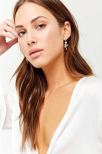 Rose Floral Drop Earrings