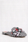 Betsey Johnson Gingham Loafer Mules