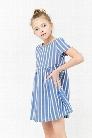Girls Striped Linen Dress (Kids)