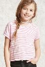 Girls Striped Pocket Tee (Kids)